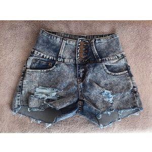 3/$12 🛍 High Waisted Shorts   Blue Wash